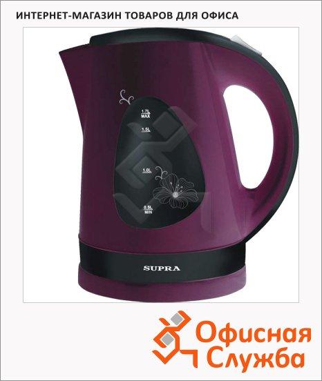 фото: Чайник электрический Supra KES-1708 вишневый 1.7 л, 2200 Вт