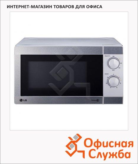 фото: Микроволновая печь Lg MS2022U 20 л 700 Вт, серебристая