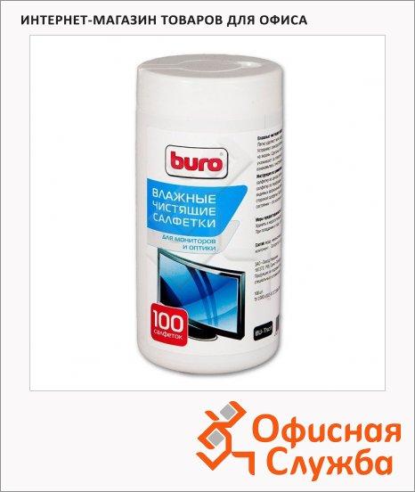 фото: Салфетки чистящие для мониторов Buro BU-Tscrl 100 шт/уп в тубе