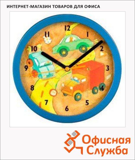 фото: Часы Hama H-106933 настенные Car детские аналоговые диаметр 20.8 см, синий