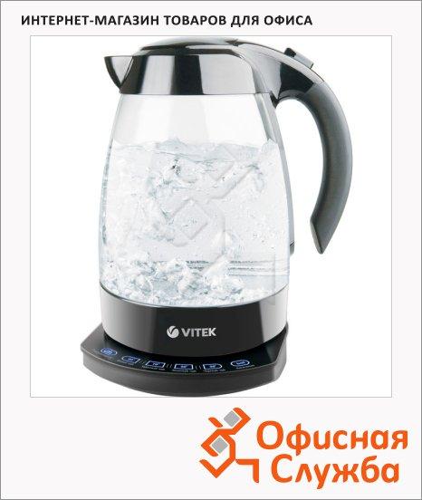 фото: Чайник электрический VT-1113 1.7л, 2200Вт, прозрачный