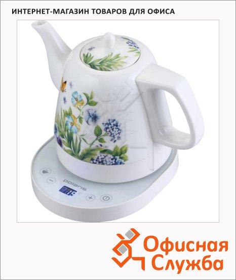 фото: Чайник электрический Polaris PWK 1232CCD белый 1.2 л, 1800 Вт