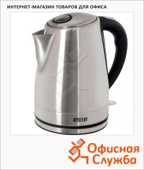 фото: Чайник электрический Mystery MEK-1632 металлик 1.7 л, 1850 Вт