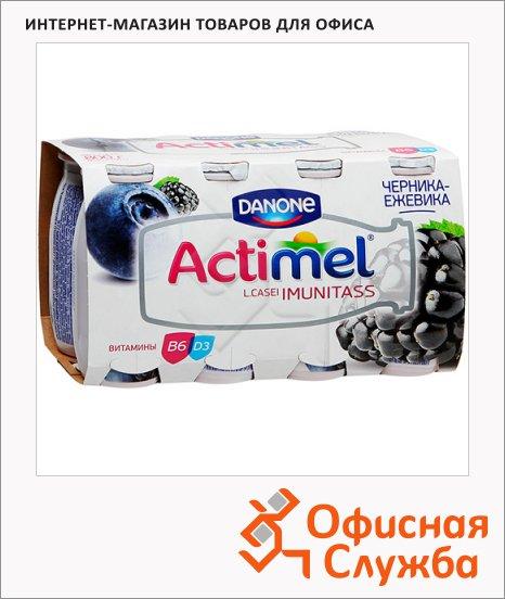 Кисломолочный напиток Actimel натуральный черника-ежевика, 100г х 8шт