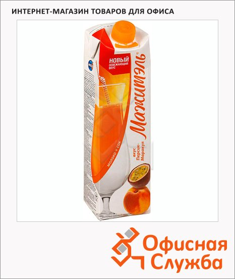 фото: Молочный коктейль Мажитэль 0.05% персик/маракуйя 950г