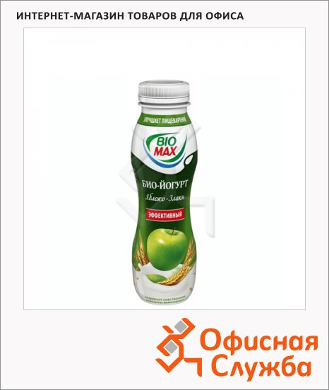 Йогурт питьевой Bio Max 2.7%, 270г, яблоко-злаки