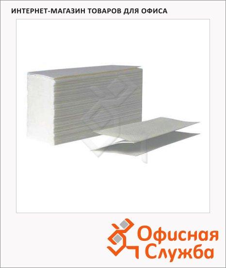 фото: Бумажные полотенца 210450 листовые, V-сложения, серые, 250 листов, 1 слой, 22.5 х 22.5см