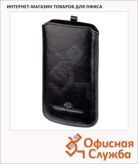Чехол для мобильного телефона Tom Tailor Classic Casual черный, 13.5х7.5х1см, кожаный