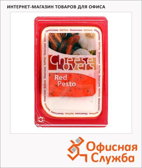 Сыр в нарезке Cheese Lovers 45% Песто красный, 250г