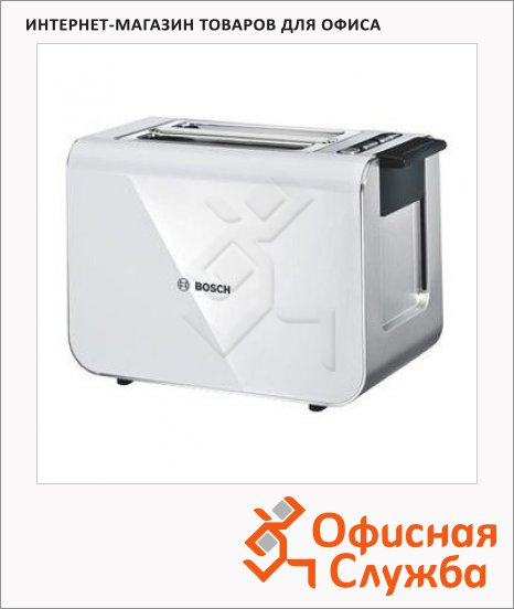 Тостер Bosch TAT8611 белый, 860Вт