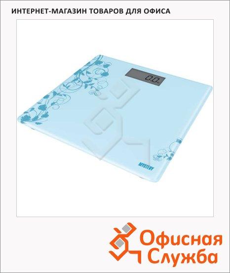 Весы напольные Mystery MES-1808 голубые, до 150 кг, электронные