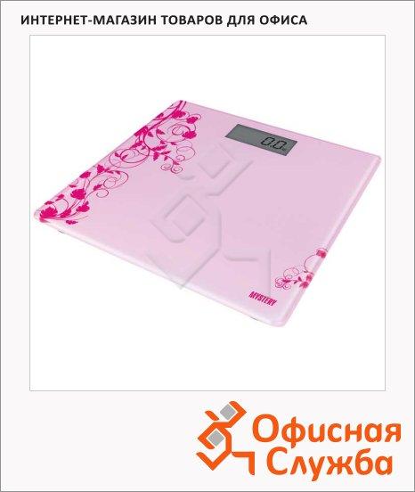 Весы напольные Mystery MES-1808 розовые, до 150 кг
