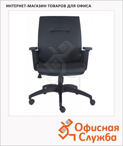 Кресло оператора Бюрократ CH-560AXSN иск. кожа, черная, крестовина пластик