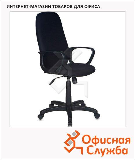 фото: Кресло руководителя Бюрократ CH-808AXSN ткань крестовина пластик, черная