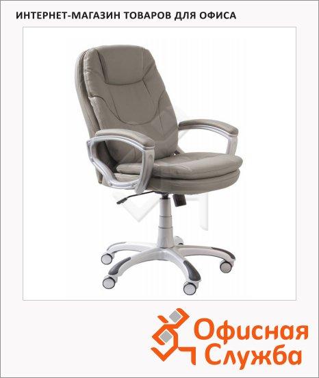Кресло руководителя Бюрократ CH-868AXSN иск. кожа, крестовина пластик, серая