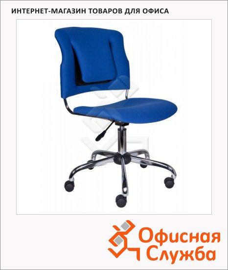 Кресло офисное Бюрократ h-H322SXN ткань, синяя, крестовина хром
