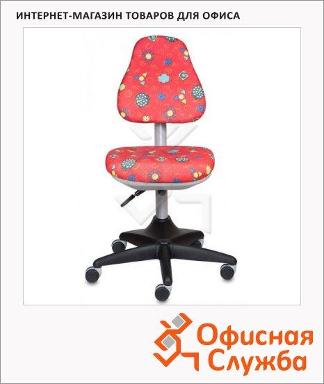 Кресло детское Бюрократ KD-2 ткань, крестовина пластик, красная, божьи коровки