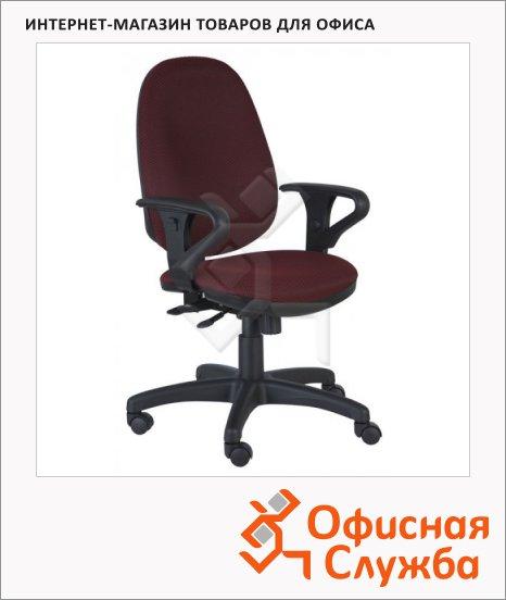 Кресло офисное Бюрократ T-612AXSN ткань, крестовина пластик, бордовая