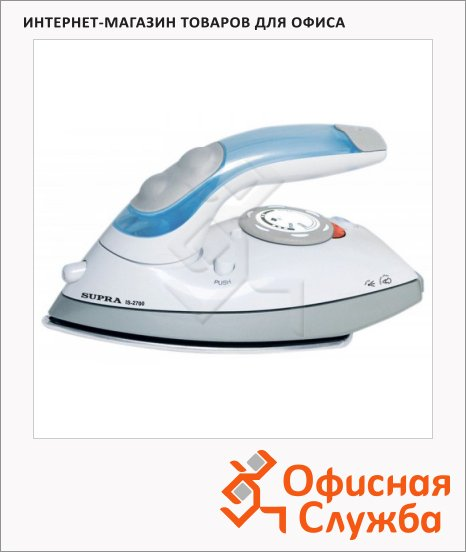 Утюг Supra IS-2700 1000 Вт, бело-синий