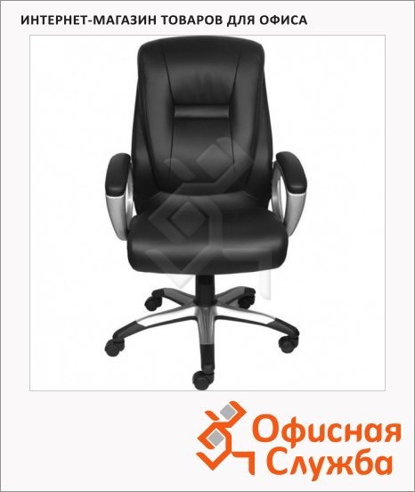 Кресло руководителя Бюрократ CH-875S иск. кожа, черная, крестовина пластик