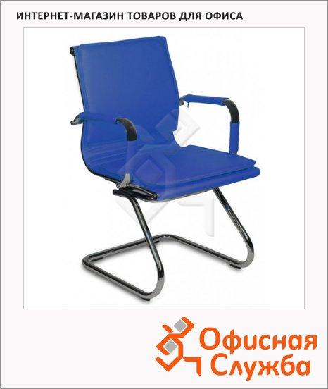 Кресло посетителя Бюрократ CH-993-LOW-V иск. кожа, на полозьях, синяя