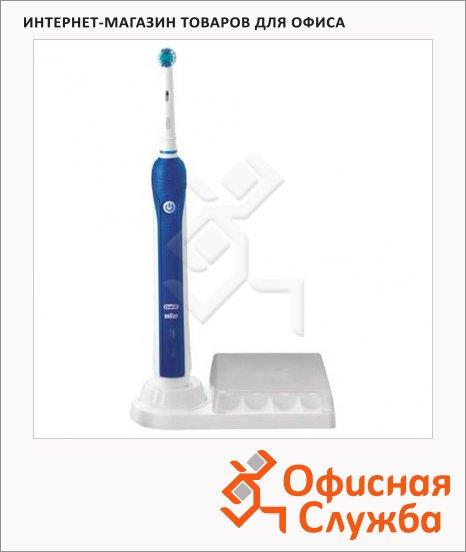 фото: Зубная щетка Oral-B TriZone 1000 40000 дв. в минуту бело-синяя