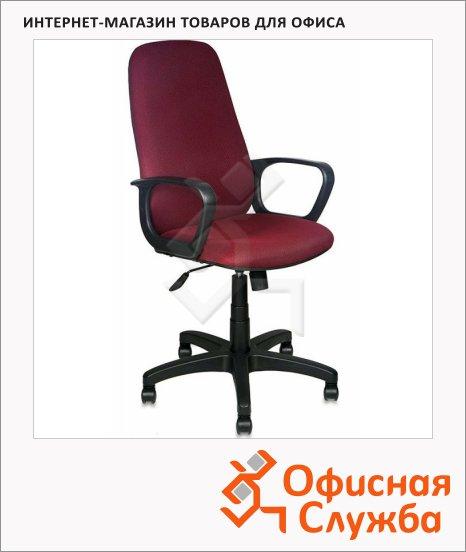 Кресло руководителя Бюрократ CH-808AXSN ткань, крестовина пластик, темно-бордовая, TW