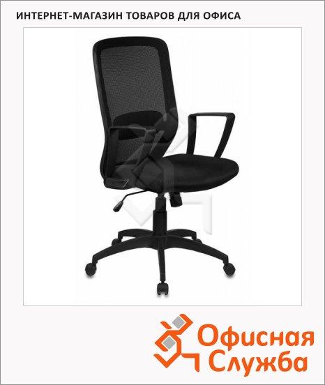 Кресло офисное Бюрократ CH-899 ткань, черная, TW, крестовина пластик