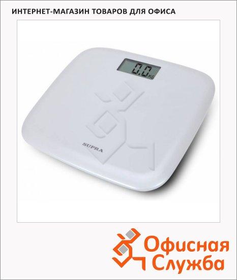 фото: Весы напольные Supra BSS-6050 белые до 150 кг, электронные