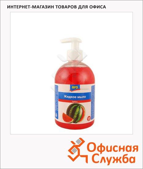 Жидкое мыло наливное Aro 500мл, с дозатором, арбуз