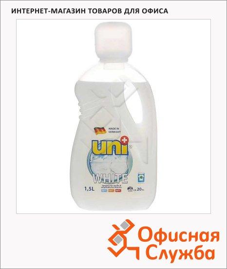 Гель для стирки Uniplus 1.5л, для белых и деликатных тканей
