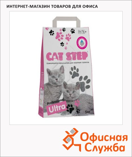 фото: Наполнитель для кошачьего туалета Cat Step Professional Ultra комкующийся 5л