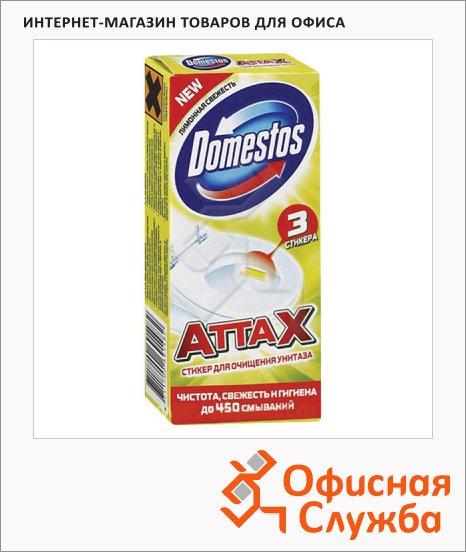 фото: Стикер для унитаза Domestos лимонная свежесть 3шт х 10г
