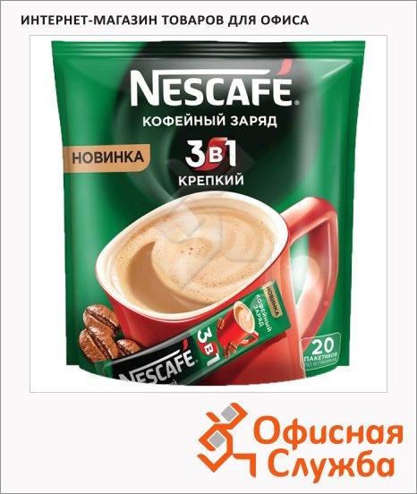 фото: Кофе порционный Nescafe Крепкий 3в1 20шт х 16г растворимый, пакет
