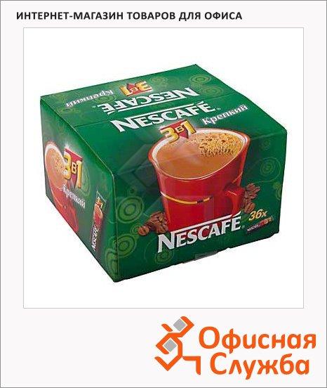 фото: Кофе порционный Крепкий 3в1 растворимый, пакет