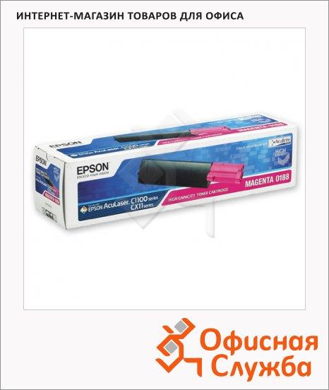 фото: Тонер-картридж Epson C13S050188 пурпурный