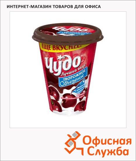 Йогурт Чудо Творожный десерт вишня-шоколадная глазурь, 5.6%, 315г