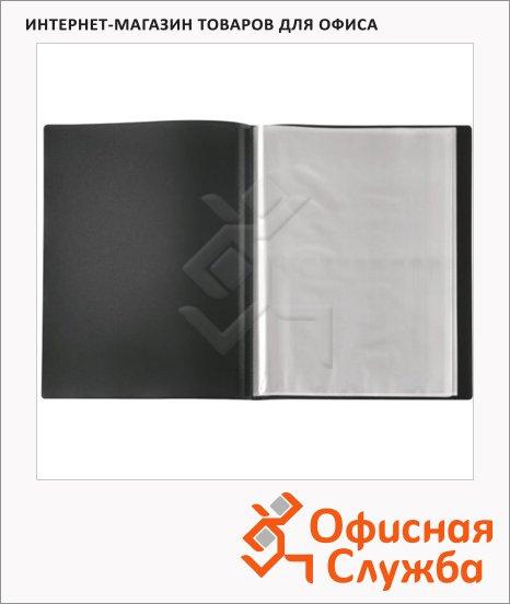 фото: Папка файловая Панорама черная А4, на 40 файлов, 177474