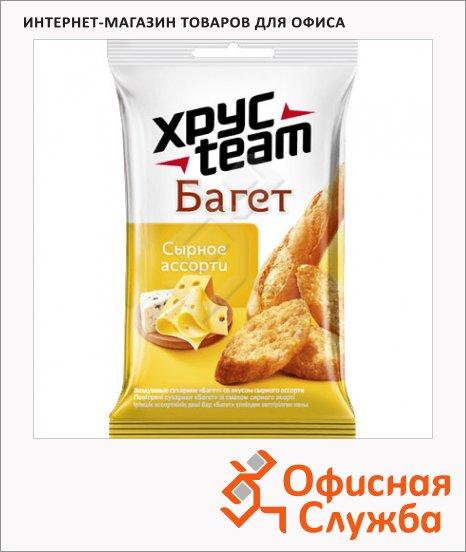 Сухарики Хрустим Багет сырное ассорти, 60г
