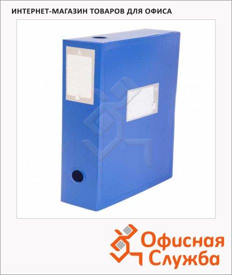 Архивный бокс Бюрократ синий, А4, 100 мм, BA100-08BLUE
