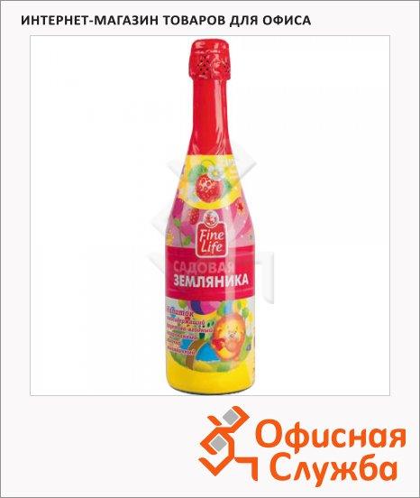 Детское шампанское Fine Life земляника, 0.75л, стекло