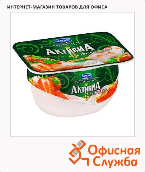 фото: Йогурт Активиа творожная клубника 4.5%, 130г