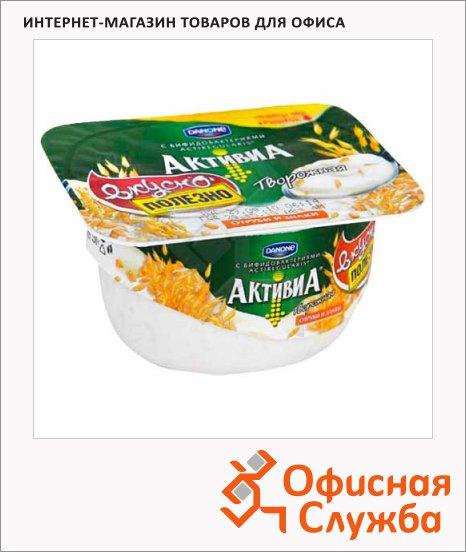 фото: Йогурт Активиа творожная отруби-злаки 4.5%, 130г