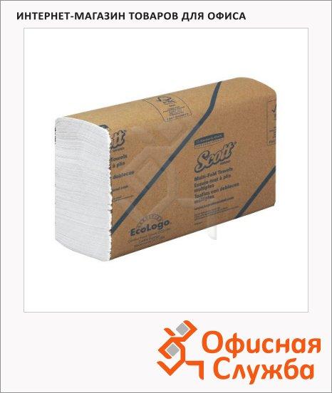фото: Бумажные полотенца Kimberly-Clark Scott MultiFold 3749 листовые, 250шт, 1 слой, белые