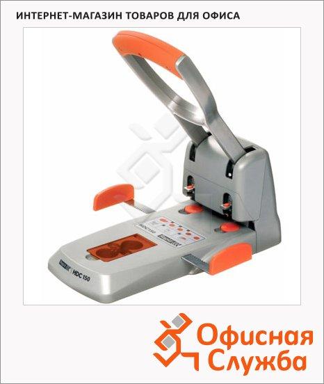 фото: Дырокол Rapid Supreme Heavy Duty до 150 листов серебристо-оранжевый, HDC150/2
