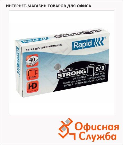 фото: Скобы для степлера Rapid Super Strong 1M №9/10 стальные, 1000 шт