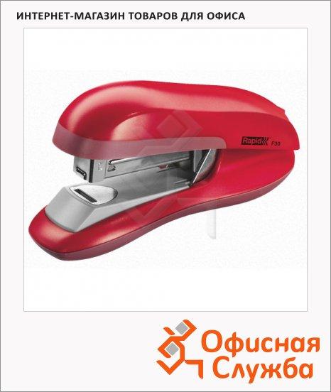 фото: Степлер Rapid Flatclinch Halfstrip F30 №24/6 26/6, до 30 листов, красный