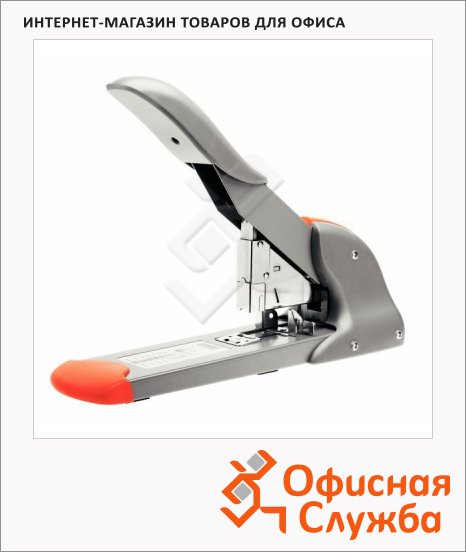 фото: Степлер Fashion HD210 Heavy Duty до 210 листов серебристо-оранжевый