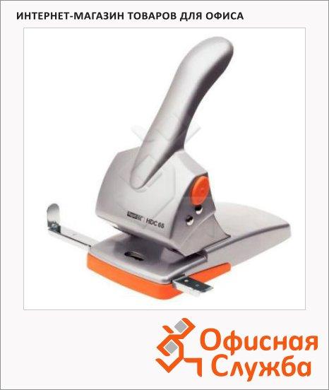 фото: Дырокол Rapid Fashion до 65 листов серебристо-оранжевый, HDC65