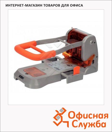 фото: Дырокол Supreme до 300 листов серебристо-оранжевый, HDC300